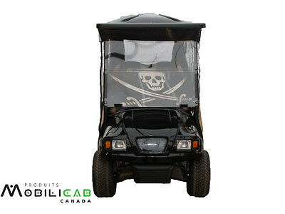 Windshield for golf cart Club Car Precedent JOLLY ROGERS skull