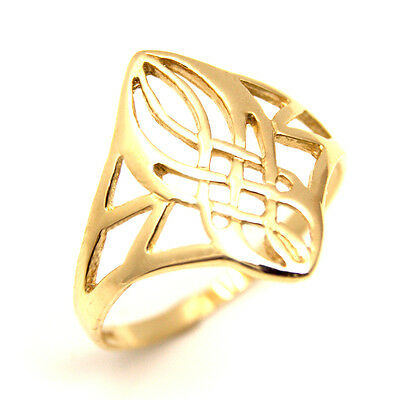 Celtic Ring Solid Hand Crafted 9ct Gold UK Hallmarked (CE5)
