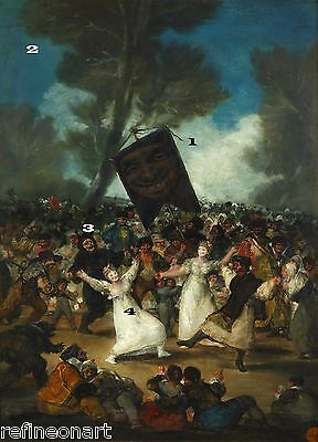 The Burial of the Sardine  by Francisco de Goya Giclee Canvas Print