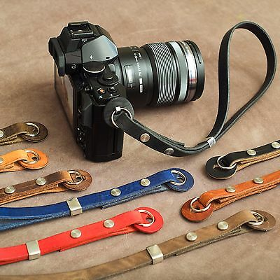 "The 1901 ""Caradog"" Leather Camera Wrist Strap - Italian Brown"