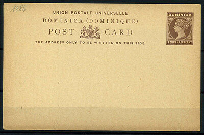 15-10-00807 - Dominica 1886 Mi.  1 POS 100% Postal stationery - Post Card