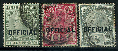 15-10-00362 - Jamaica 1890 Mi.  2-4 US 100% Official stamps - Queen Viktoria