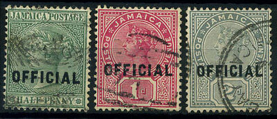 15-10-00364 - Jamaica 1890 Mi.  2-4 US 100% Official stamps - Queen Viktoria
