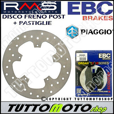 Kit Disco Freno Posteriore + Pastiglie Ebc Piaggio Beverly Tourer 300 2009 -2010