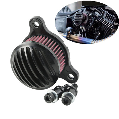 Black Air Cleaner Intake Filter For Harley Sportster 883 1200 XL 2004-2018 07 08