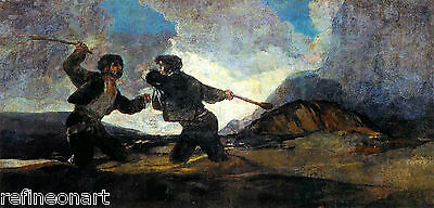 Fight with Cudgels by Francisco de Goya Giclee Canvas Print