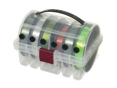 Plano 1084 Line Spool Box - Leader Box - Neatly Organizes 6 Spools