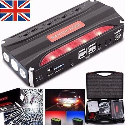 50800mAh Portable Car Jump Starter Pack Booster Charger Battery Power Bank UK