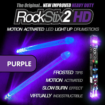 ROCKSTIX PURPLE LED LIGHT UP DRUMSTICKS (accessories) (not firestix)