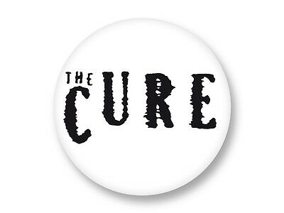 "Pin Button Badge Ø25mm 1"" Logo The Cure Robert Smith Rock UK"