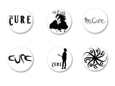 Lot Pack Badge Button Ø38mm Logo The Cure Robert Smith Rock UK