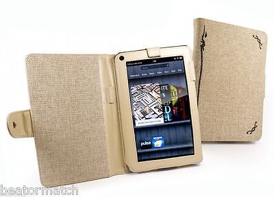 100 x JOB LOT Tuff-Luv Natural Hemp Fabric Case Cover Amazon Kindle Fire Tablet