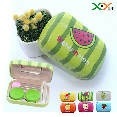 """Fruit"" Contact Lenses Lens Case Holder Box Container Portable Travel Kit Set"