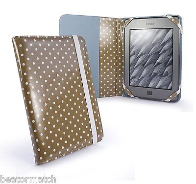 10x Wholesale Tuff luv Slim Book-style Case Stand Sony PRS-T1 Kindle Fire JOBLOT
