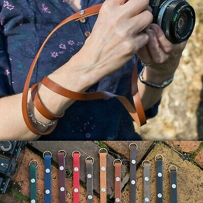 "The 1901 ""Eggleston"" CUSTOM LENGTH Leather Camera Strap - Moroccan Olive"