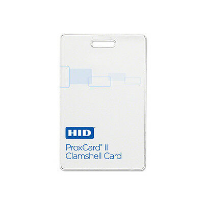 HID 1326-LMSMV Programmed 26-Bit ProxCard II Proximity Cards - 100 Pack