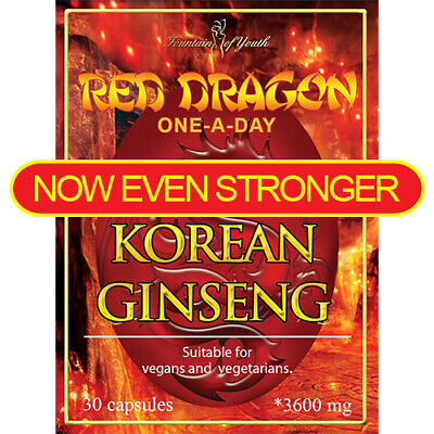 KOREAN RED DRAGON GINSENG EXTRACT- HIGH STRENGTH - SAPONINS - 3125mg- ONE A DAY