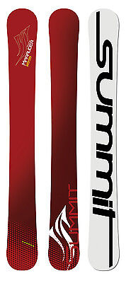 Summit Marauder 125cm 3D Skiboards with Technine Snowboard Bindings Maroon NEW