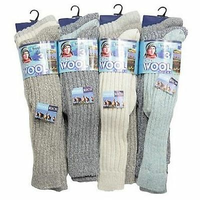 3 x Ladies Women Wool Blend Long Hose Knee High Winter Wam Socks