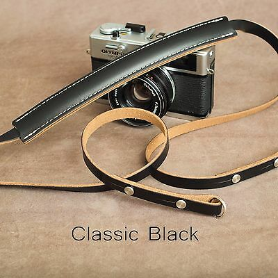 "1901 ""Steichen"" CUSTOM LENGTH Leather Camera Strap - Classic Black"