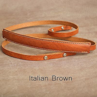 "1901 ""Steichen"" CUSTOM LENGTH Leather Camera Strap - Italian Brown"