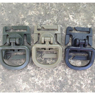 Hot 5 x Outdoor Tactical 360 ° Rotatable D-Ring Buckle Molle Locking Carabiner D
