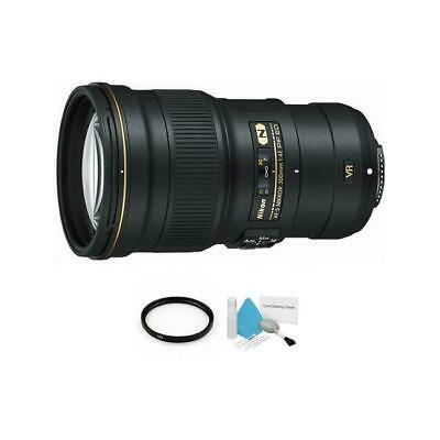 Nikon AF-S NIKKOR 300mm f/4E PF ED VR Lens + UV Filter & Cleaning Kit