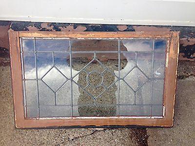 Geometric Diamond And Circle Vintage Leaded Window