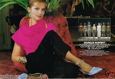 Coupure de Presse Clipping 1992 (4 pages) Isabelle Huppert