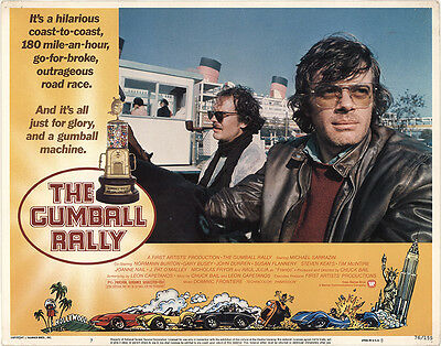 The Gumball Rally 1976 Original Movie Poster Comedy