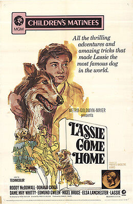 Lassie Come Home 1971 Original Movie Poster Adventure Family
