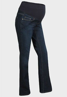 Maternity Mid Bump Bootcut Dark Blue Jeans Ex Store Sizes 8-22 (New)