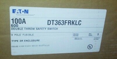 Eaton 100 Amp Double Throw Safety Switch Dt363Frklc