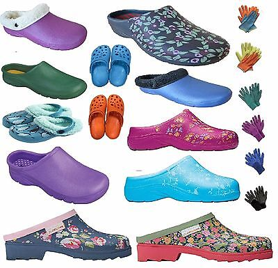 Briers Mens/Womens Garden Clogs Plain/floral/fleece Gardening Shoes Kids Gloves