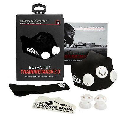 NEW! Elevation Training Mask 2.0 - Simulates High Altitude Training Fitness Mask
