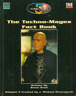 """Graw """"babylon 5: The Techno-Mages Fact Book"""" 2004 1St Ed Pb Vg Rpg"""