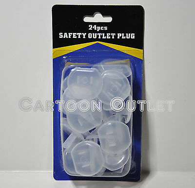 24 Pcs Safety Outlet Plugs Protector Covers Baby Proof Electric Shock Guard Kids