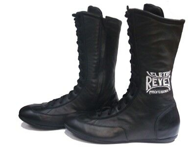 Cleto Reyes Leather High Top Lace Up Boxing Shoes (Black)
