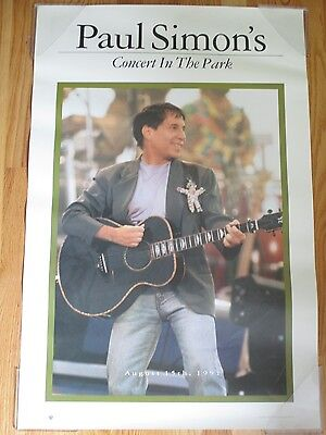 PAUL SIMON Concert in the Park August 15th, 1991 Promotional Poster
