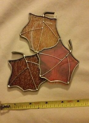 Stained Glass Suncatcher Autumn Leaves