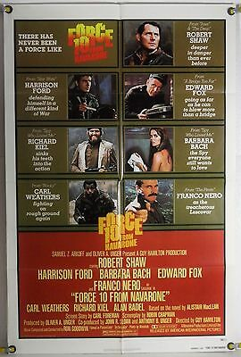 Force 10 From Navarone Ff Adv Orig 1Sh Movie Poster Harrison Ford Ww2 (1978)