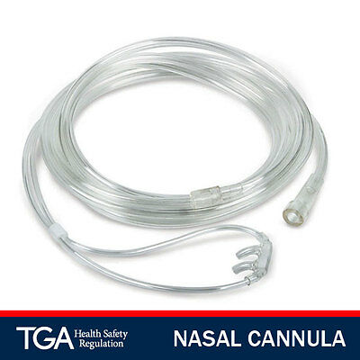 Adult Oxygen Nasal Cannula With Tubing With Nasal Prongs *brand New*