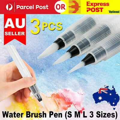 3 Size Water Soft Brush Pen Paint For Watercolor Reusable Beginners Calligraphy