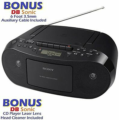 Sony Portable Stereo BOOMBOX with CD Player, MP3, AM/FM Radio, Cassette Recorder