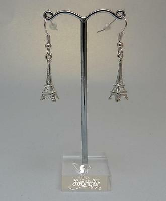 Eiffel Tower Paris 3D earrings on silver plated or sterling wires jewellery gift