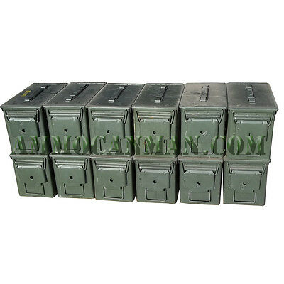 Grade 1  50 cal empty ammo cans 12 Total
