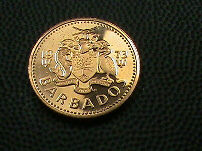 BARBADOS    1  cent    1973    PROOF