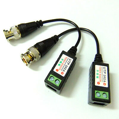 UTP202A Video Balun 1 Channel Passive Video Transceiver Over CAT5 Cable s502