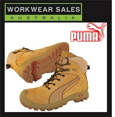 Puma Safety Nullarbor Wheat Zip Side Workboots Work Boots Shoes Free Postage