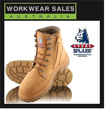 Steel Blue Argyle Zip 312152 Work Boots. Wheat Steel Toe Cap. Free Delivery